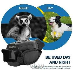 3-12x Vision Nocturne Monoculaire Avec 1,5 Tft LCD 7 Grades Ir Caméra Enregistreur Vidéo