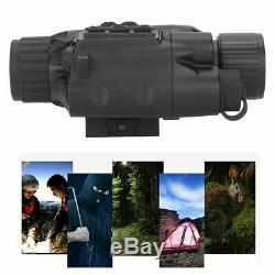 3x Numérique Hd Night Vision Chasse Télescope Monoculaire Avec La Lumière Infrarouge Ir