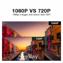 4ch 1080p Extérieur Système De Caméra De Sécurité Sans Fil 2mp Wifi Nvr