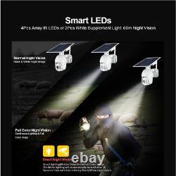4g/wifi 1080p Hd Solar Power Ptz Ip Caméra De Sécurité Cctv Waterproof Outdoor Cam