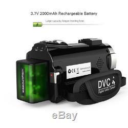 4k 1080p 48mp Wifi Appareil Photo Numérique Enregistreur Vidéo Caméscope + 0.39x Objectif MIC Y8p3