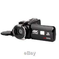 4k Caméscope 48mp Night Vision Contrôle Wifi Appareil Photo Numérique De 3,0 Pouces Tactile S W6j5