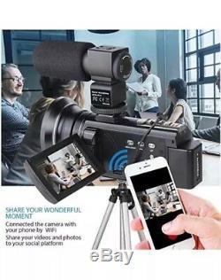 4k Caméscope, Actitop Caméra Vidéo 48mp Uhd Wifi Numérique Caméscope Numérique 16x Ir
