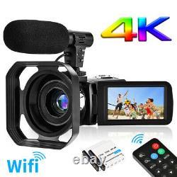 4k Wifi Caméscope Vidéo Vlogging Caméra Digital Zoom Caméscope Ir Night Vision