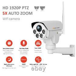 5mp 1920p Wifi 5x Zoom Ptz Audio Sans Fil Caméra De Sécurité Ip En Plein Air Onvif Cctv