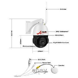 5mp Pan/tilt 2way Audio 20xzoom Système De Caméra De Sécurité Microphone Sans Fil 64g