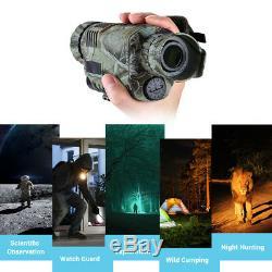 5x40 8 Go De Vision Nocturne Infrarouge Numérique Télescope Monoculaire Avec Photo Video Dvr
