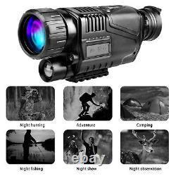 5x40 Hd Numérique Infrarouge Nuit Vision Monoculaire De Chasse Caméra Vidéo De Télescope