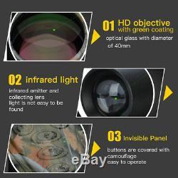 5x40 Infrarouge À Vision Nocturne Ir Caméra Vidéo Numérique Monoculaire Scope Telescope Ss