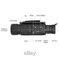 5x40 Infrarouge Ir Numérique 1,44 LCD Zoom Monoculaire De Vision Nocturne Photo Video