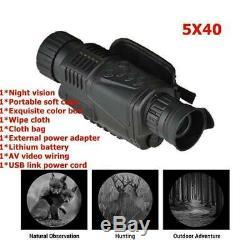 5x40 Numérique Monoculaire De Vision Nocturne Infrarouge De Vision Nocturne V3q4 Caméra Monoc E9o6