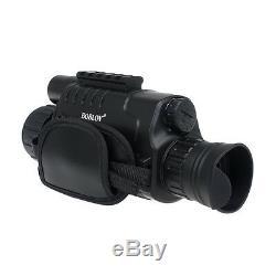 5x40 Zoom Numérique Portée Monoculaire Ir Night Vision Prend Photo Video Dvr Noir