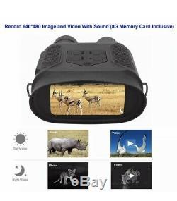 720p Ip56 Numérique De Vision Nocturne Infrarouge Binocular Enregistreur Vidéo Caméra Audio