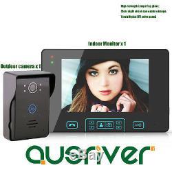 7 Vidéo Sans Fil Interphone Sonnette Porte Téléphone Ir Caméra De Vision Nocturne