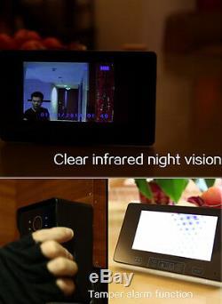 7 Vidéo Sans Fil Sonnette Intercom Ir Caméra De Vision Nocturne Avec 2 Moniteur