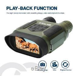 7x31 Binoculaires De Vision Nocturne Ir Caméra Vidéo Numérique Avec Portée 32g Chasse Carte