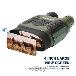7x31mm Numérique Night Vision Binocular Portée Avec 2 Tft LCD Et 32 go Carte Tf