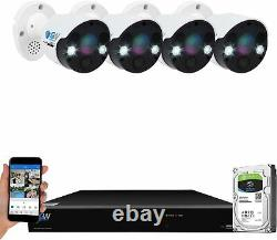 8 Canal 4k Nvr 4 X 8mp Full Color 4k Microphone Poe Ip Security Camera System