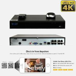 8 Canal 4k Nvr 6 X 8mp Full Color 4k Microphone Poe Ip Security Camera System