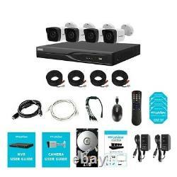 8 Canal Dvr Security System Avec 4x Ultra Hd 4k 8.3mp H. 265 Camera Night Vision