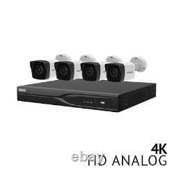 8 Ch Dvr Security System Cctv 4x Ultra Hd 4k 8.3mp H. 265 Bullet Camera Outdoor