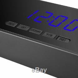 Accueil Alarme Horloge Numérique 64go Caméra De Sécurité Intérieure Capteur Pir