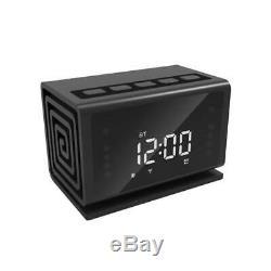Accueil Alarme Intérieure 64gb Wifi Numérique Horloge Haut-parleur Bluetooth Caméra De Sécurité