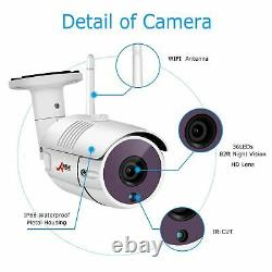 Accueil Outdoor Wireless Security Wifi Camera System 1080p 8ch 1tb Hdd Nvr Cctv Hd