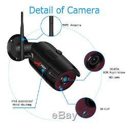 Accueil Sécurité Système De Caméra Extérieure 8ch Extérieur Sans Fil 1080p 1 / 2to Disque Dur