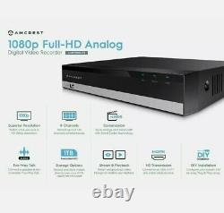 Amcrest 1080 8ch Hd Système De Sécurité Vidéo Dvr Avec 2 To Hdd Et 2 Caméras Étanches