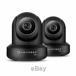 Amcrest 2-pack Ip3m-941b Ultrahd 2k 3mp 90 ° Connexion Wi-fi Vidéo Security Monitor Dual Band