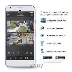 Amcrest 4k Ultrahd 4ch Dvr Security 8mp Camera System Avec Caméras Hdd 4 X 4k De 2 To