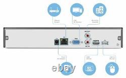 Amcrest Nv2116-2tb 16ch Nvr 4k Surveillance Du Système De Caméras De Sécurité À Domicile