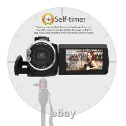 Andoer 4k 1080p 48mp Wifi Caméra Vidéo Numérique 16x Zoom Ir Vision Nocturne Infrarouge