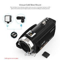 Andoer 4k 1080p 48mp Wifi Digital Video Recorder Caméra Caméscope Avec Objectif Q2e8