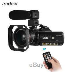 Andoer 4k Uhd 24mp Enregistreur Caméscope Appareil Photo Numérique 30x Wifi À Écran Tactile