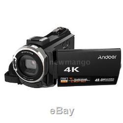Andoer 4k Wifi Ultra Hd 1080p 48mp 16x Zoom 3 Caméscope Numérique DV