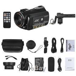 Andoer Wifi 4k 30x Zoom Microphone À Écran Tactile Caméscope Numérique DV Caméscope