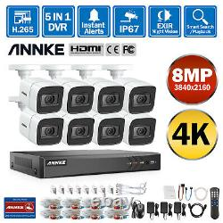Annke 4k Ultra Hd 5mp/8mp Cctv Security Camera System 8ch Dvr Home Outdoor 0-4 To