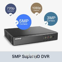 Annke 8+2ch 5in1 H. 265+ Dvr 1080p Hd Camera Home Surveillance System Ip66 1 To