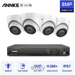 Annke 8mp 8ch Nvr Hd 4k Audio Poe Caméra De Sécurité Système Ip Réseau Onvif H. 265+