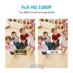 Anran 1080p Accueil Système De Caméra De Sécurité Sans Fil 8ch 1tb Disque Dur Extérieur Wifi