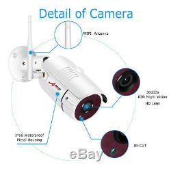 Anran 1080p Accueil Système De Caméra De Sécurité Sans Fil 8ch Extérieur 6pcs 2to Disque Dur