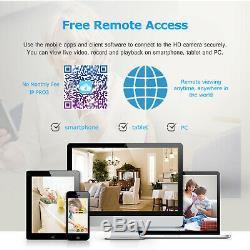 Anran 1080p Home Security Système De Caméra Sans Fil Extérieur 8ch 1tb Disque Dur Cctv