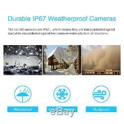 Anran 1080p Système Home Caméra De Sécurité Sans Fil D'extérieur Dôme Audio Hd Nuit Ir