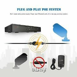 Anran 5.0mp Hd Poe Security Camera System Outdoor 8ch Poe Nvr Avec Vidéo Hdd 2 To