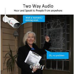 Anran Audio Sans Fil De 1080p Accueil Sécurité Système De Caméra En / Extérieur 8ch 1tb