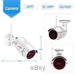 Anran Extérieure Système De Caméra Wifi Sécurité Sans Fil 1080p 8ch 1tb Hdd Nvr Cctv Hd