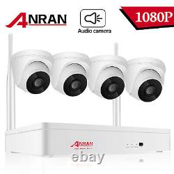 Anran Home Security System Wireless 1080p Caméra Audio Wifi Cctv 3mp 8ch Nvr Kit