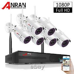 Anran Système De Caméra Sans Fil 1080p Extérieur Accueil Sécurité Système Cctv Étanche
